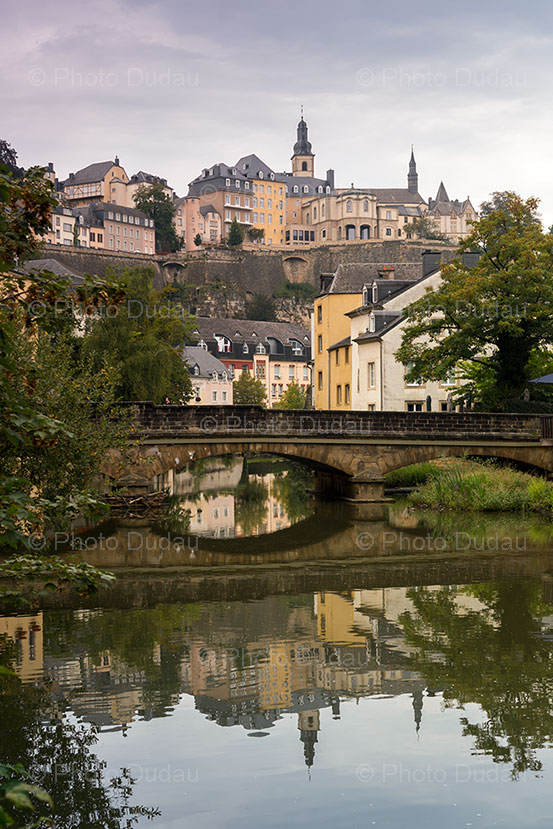 luxembourg city view from grund