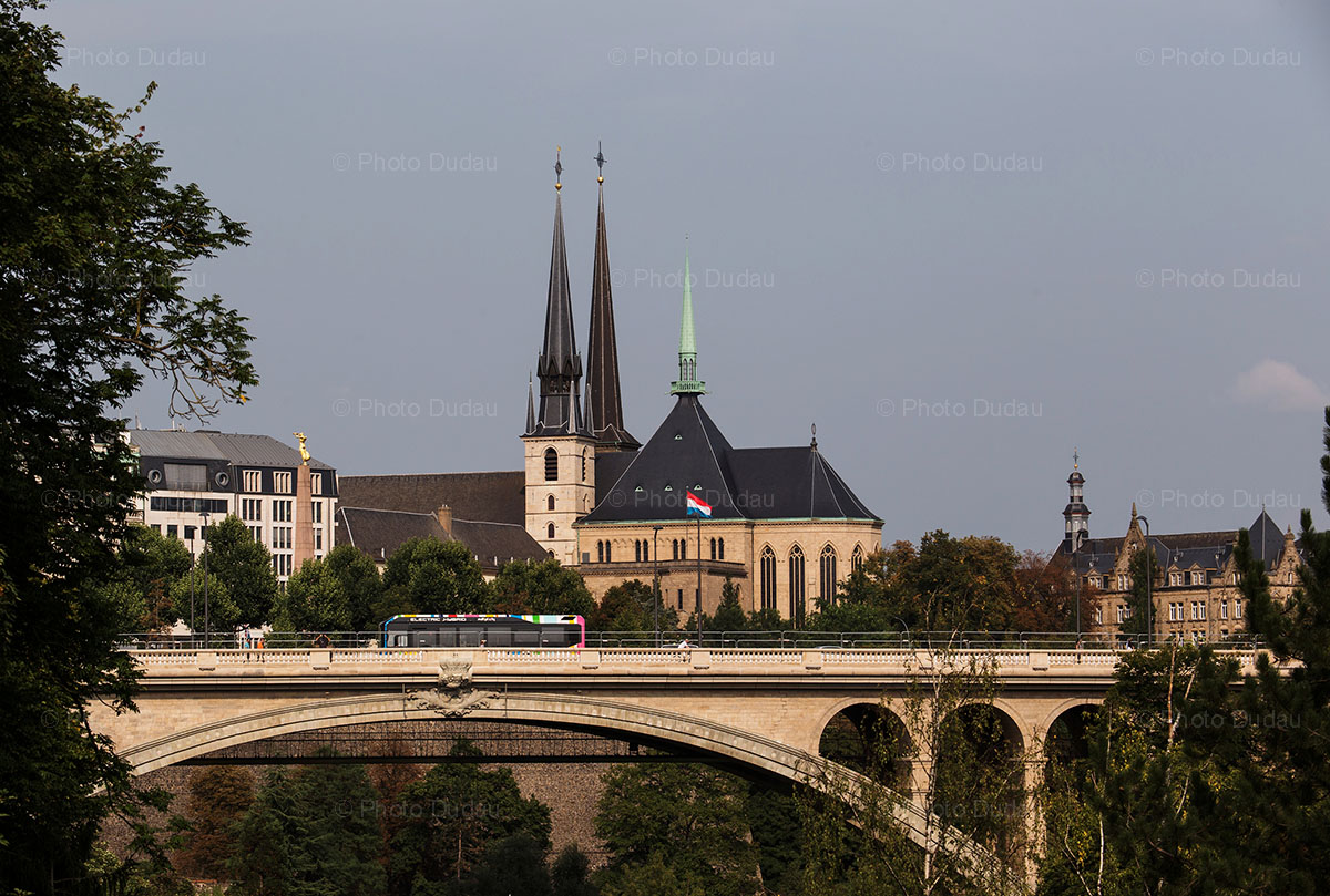Pont Adolphe and Notre Dame - Luxembourg city