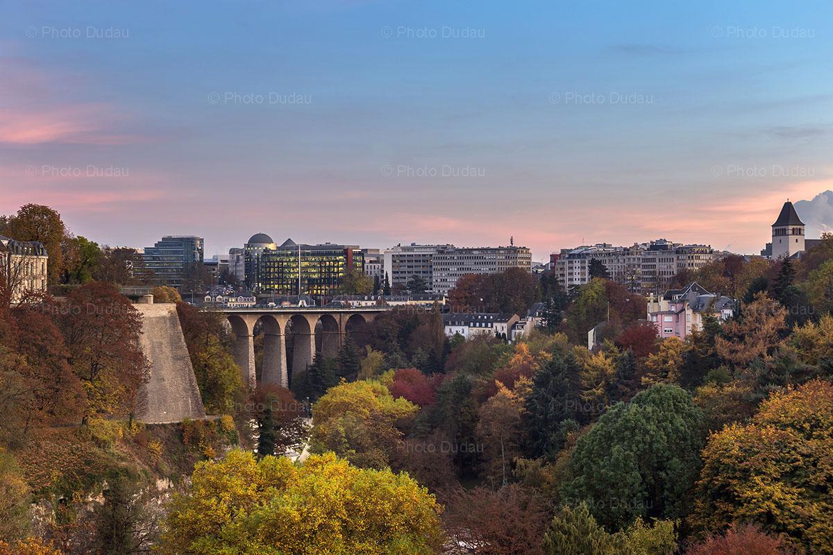 Luxembourg city - Grund sunset
