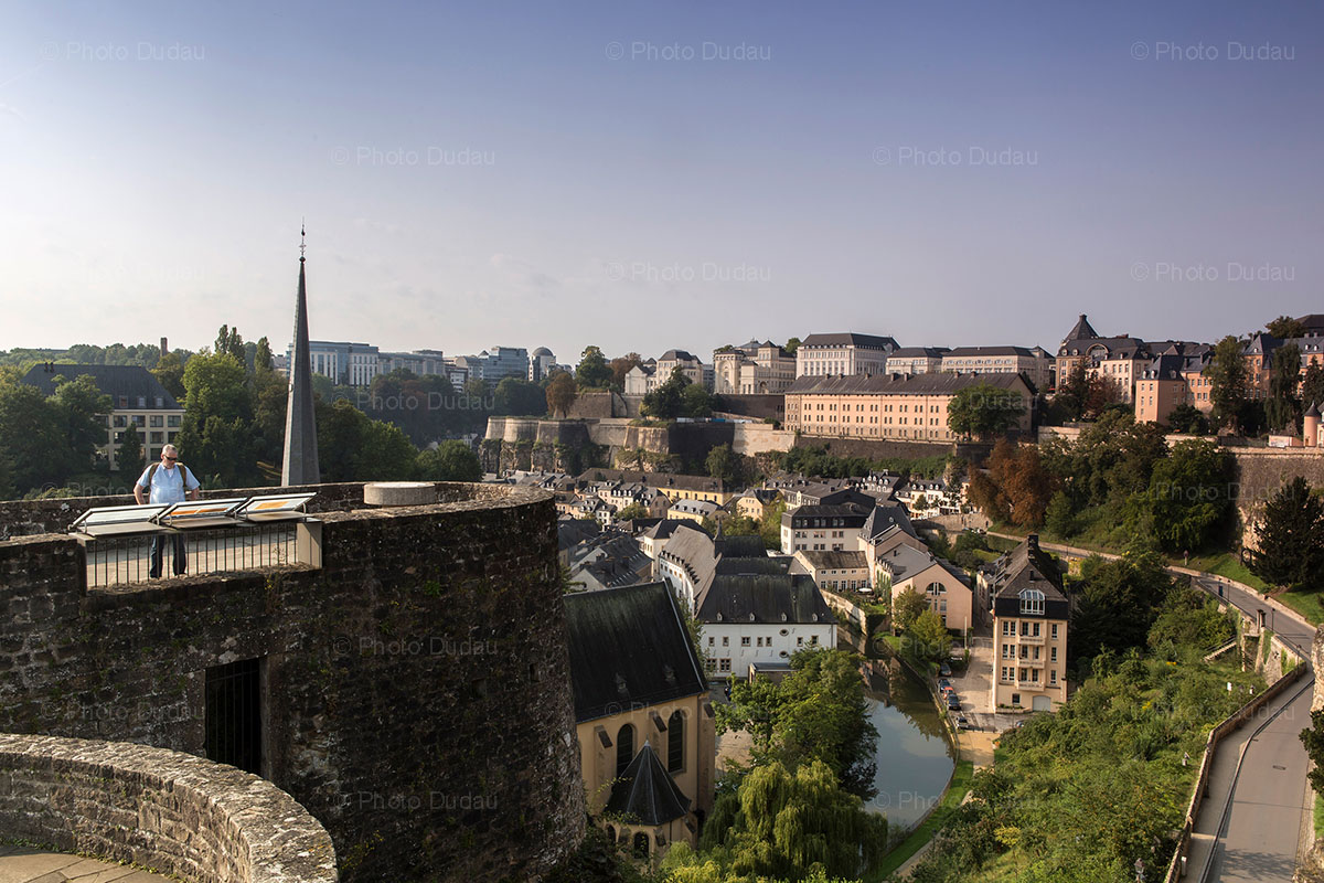 tourist in Luxembourg city