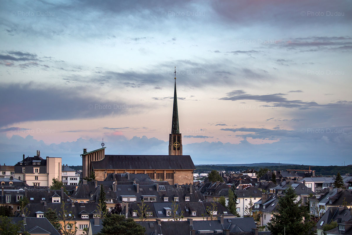 belair sunset in luxembourg