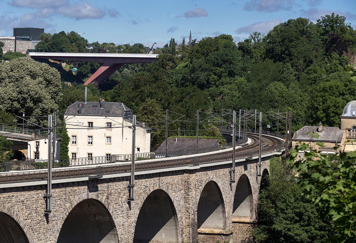 viaduct bridge and red bridge luxembourg