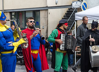 Fanfare des Super Héros performing at Ettelbrooklyn Street Fest