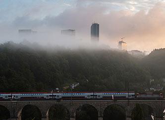 Pulvermuhl Viaduct Bridge in Luxembourg city