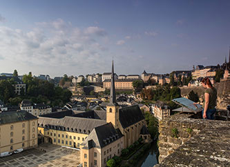 Luxembourg old town - Grund and Neumunster Abbey