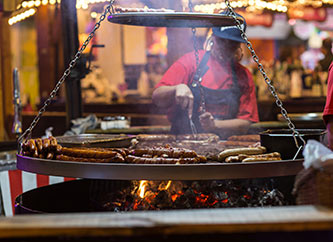 grill at funfair Schueberfouer in Luxembourg