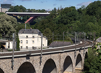 Pulvermuhl Viaduct and Grand Duchess Charlotte Bridge