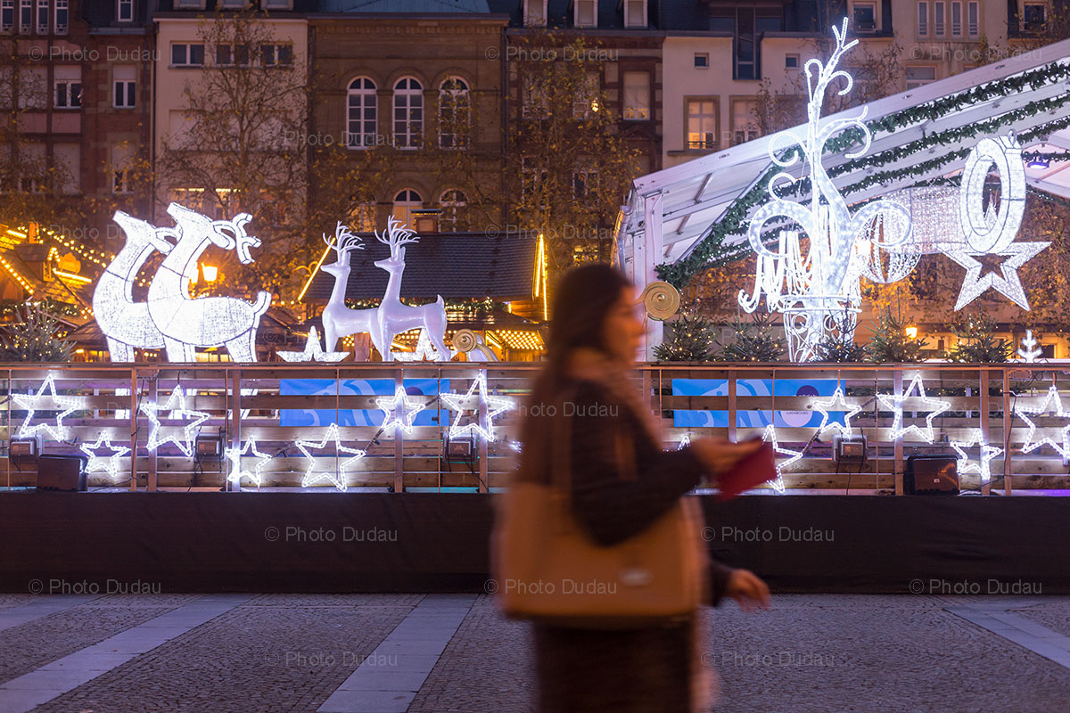 Christmas Ice Ring in Luxembourg city centre
