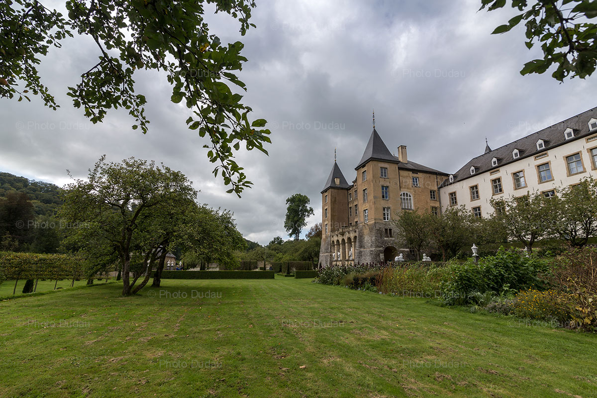 Gardens of Ansembourg castle in Luxembourg
