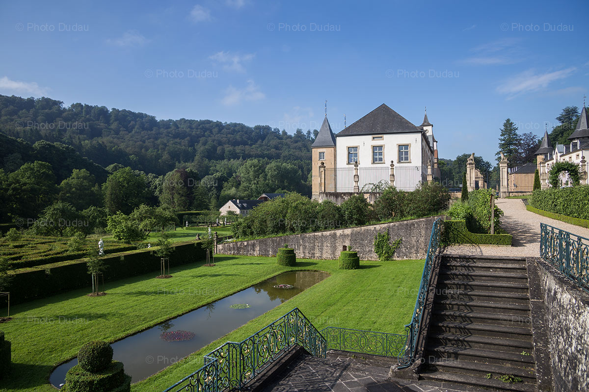 Gardens of New Castle of Ansembourg in Luxembourg