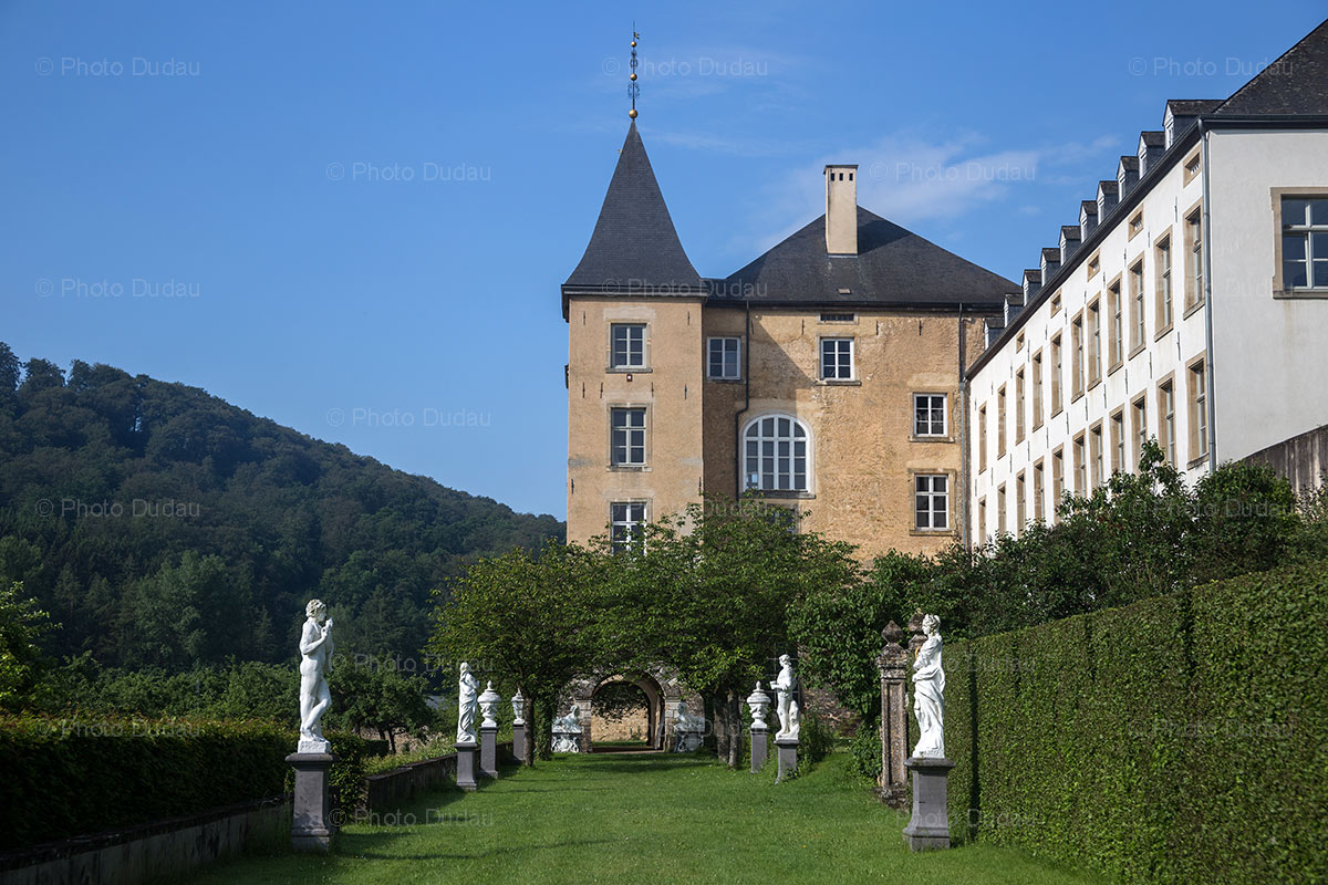Garden of New Castle of Ansembourg in Luxembourg