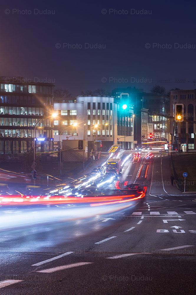 Luxembourg night traffic