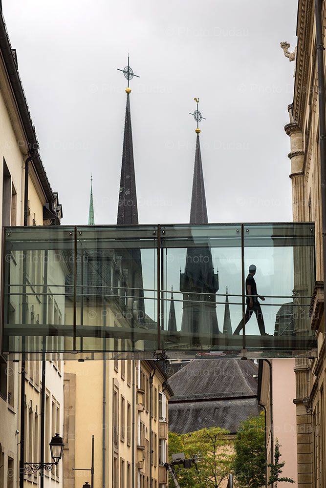 Luxembourg city old and new architecture