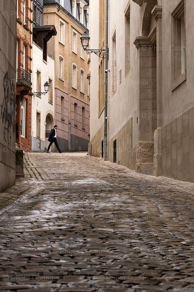 Cobbled street in Luxembourg