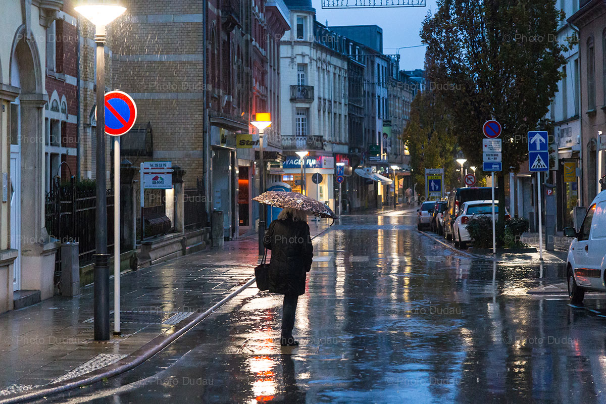 Rainy night in Esch-sur-Alzette