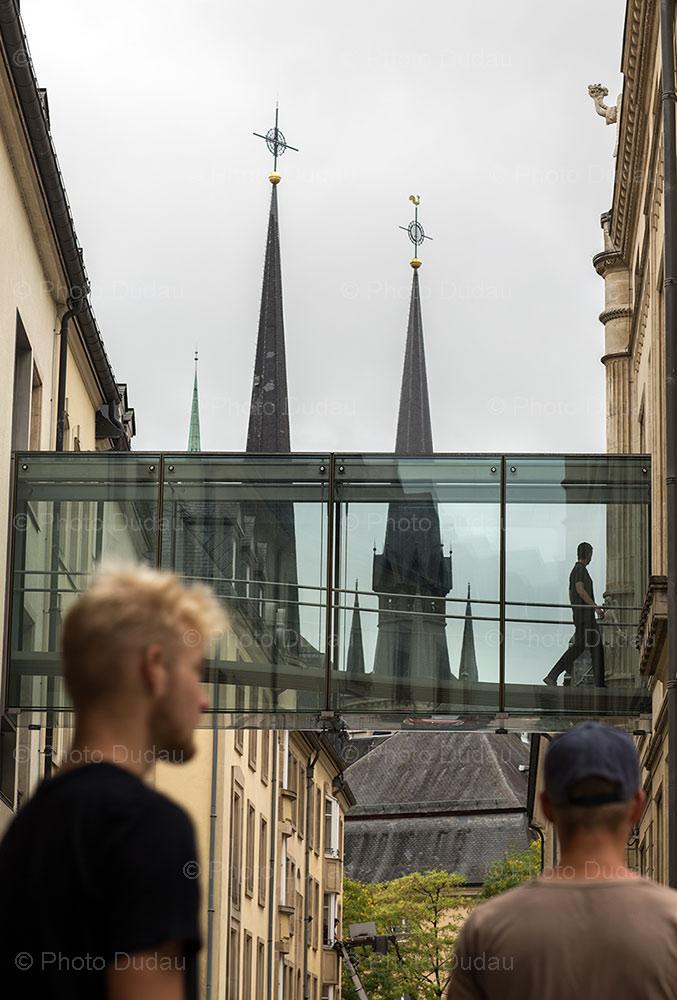 Luxembourg city street life
