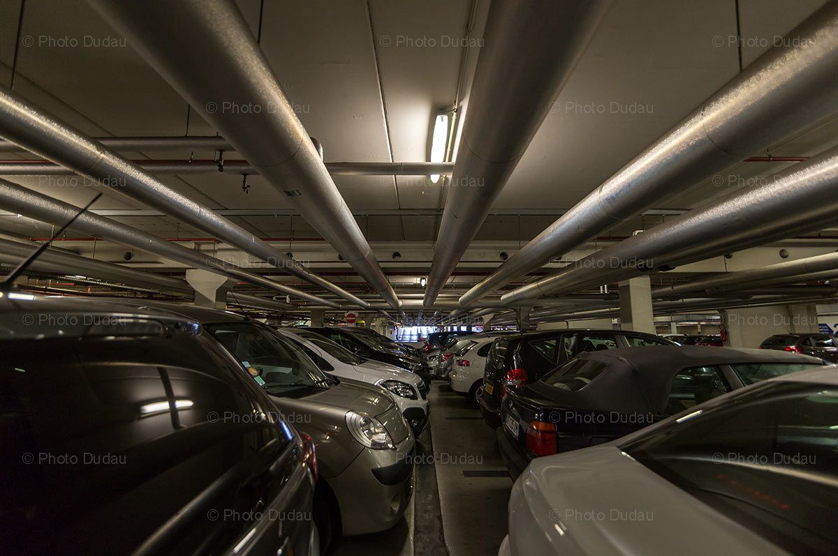 Underground parking at Belval Plaza