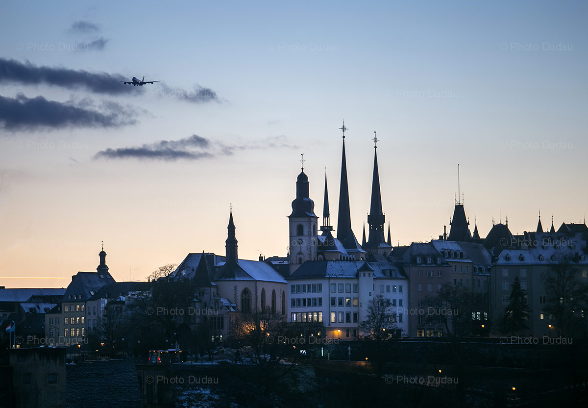 Luxembourg city at sunset
