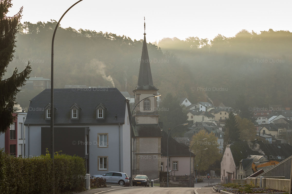 Kopstal town in Luxembourg