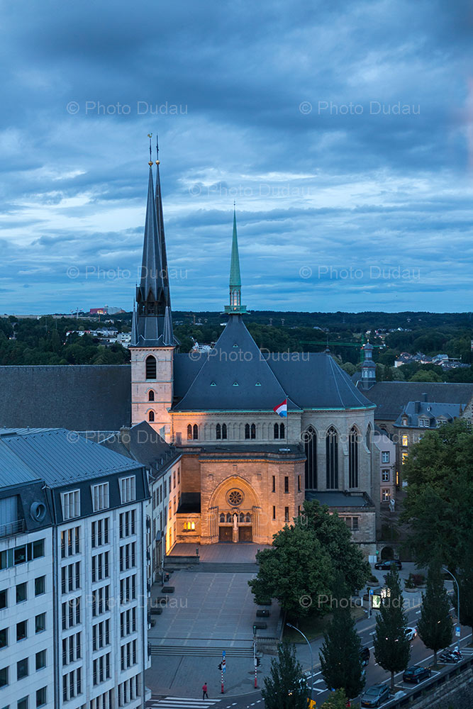 Notre Dame cathedral in Luxembourg city