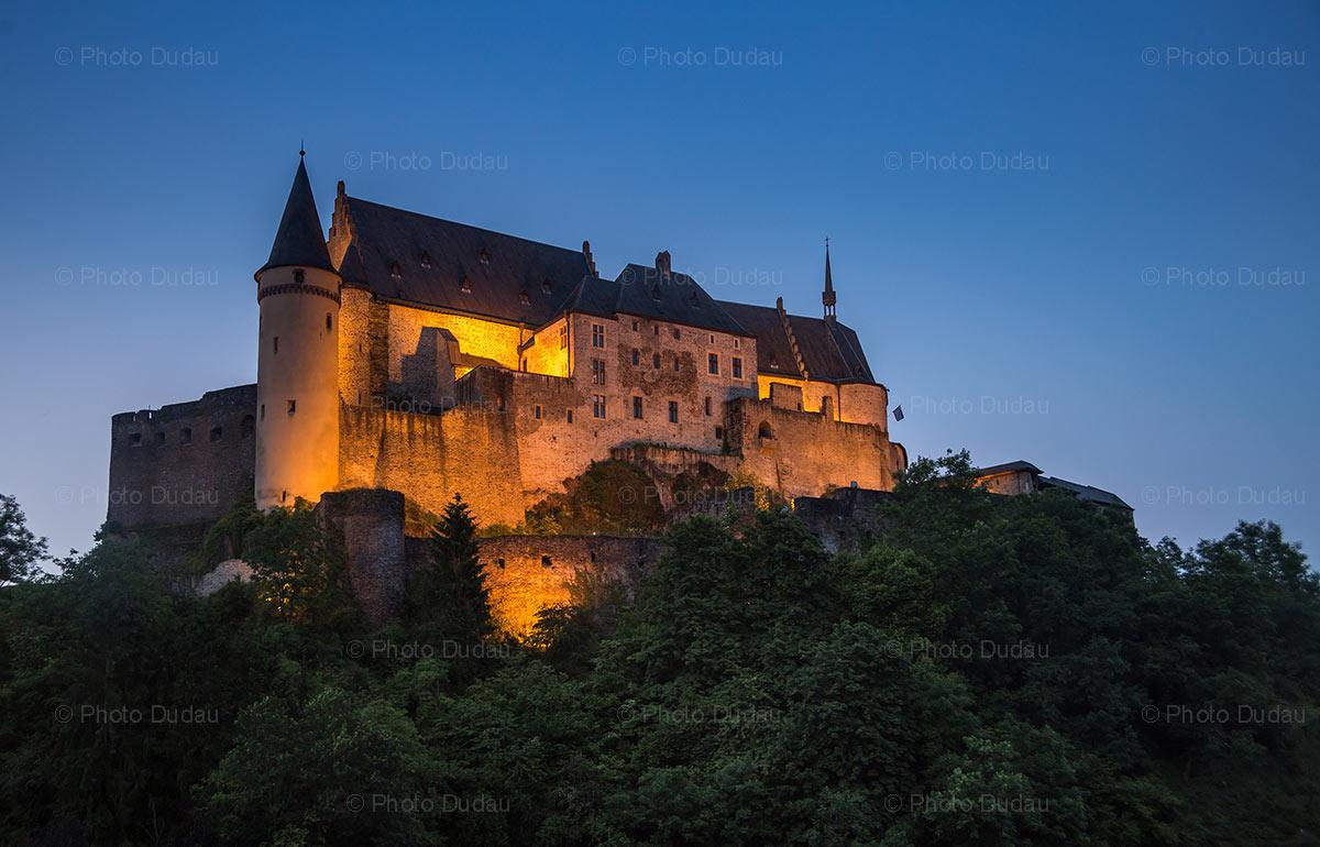 Vianden Castle night view