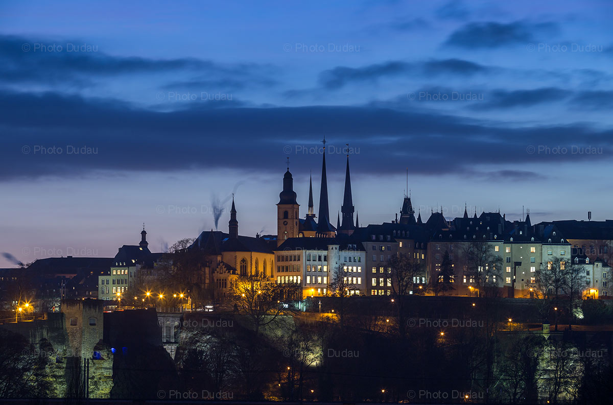luxembourg city nightscape