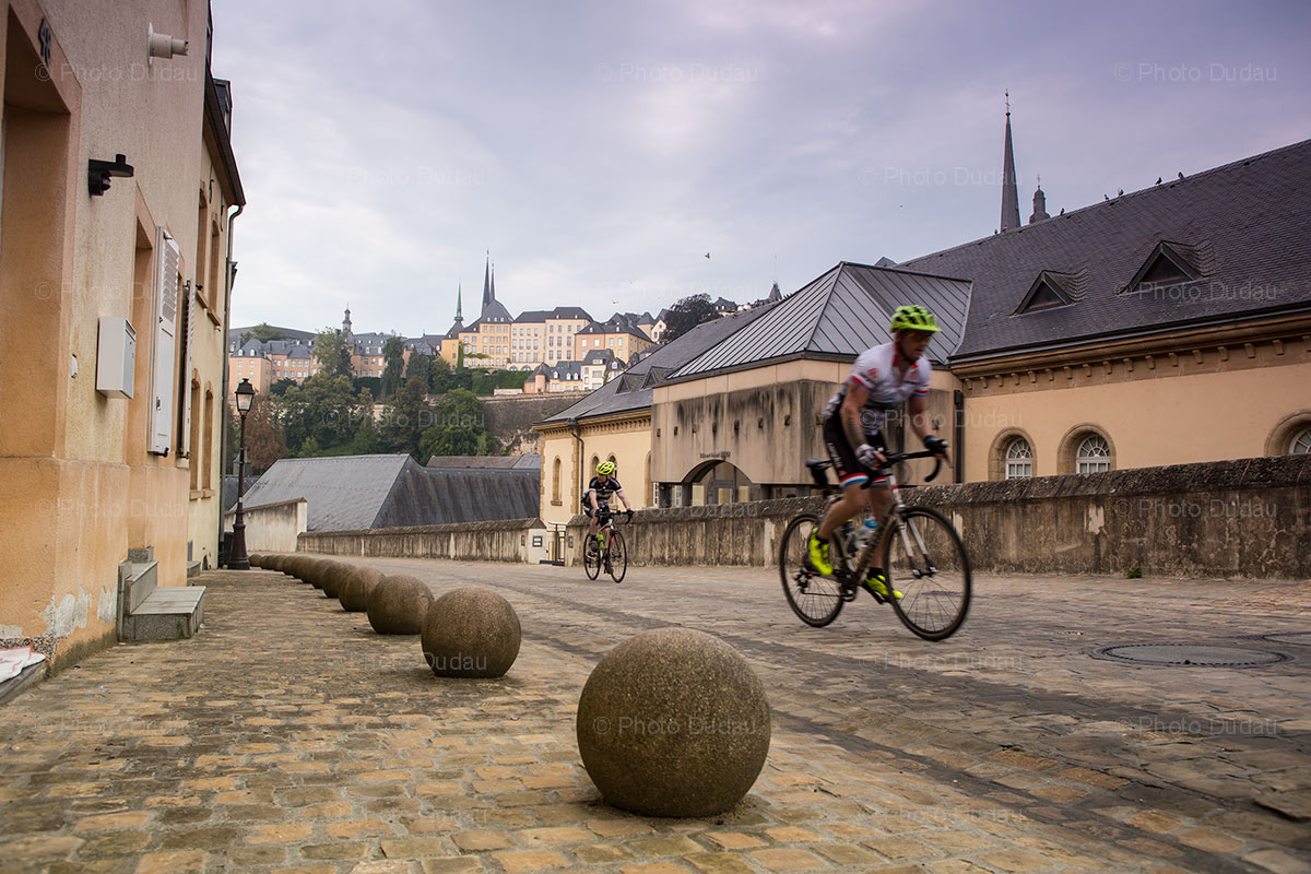 cyclists in Luxembourg