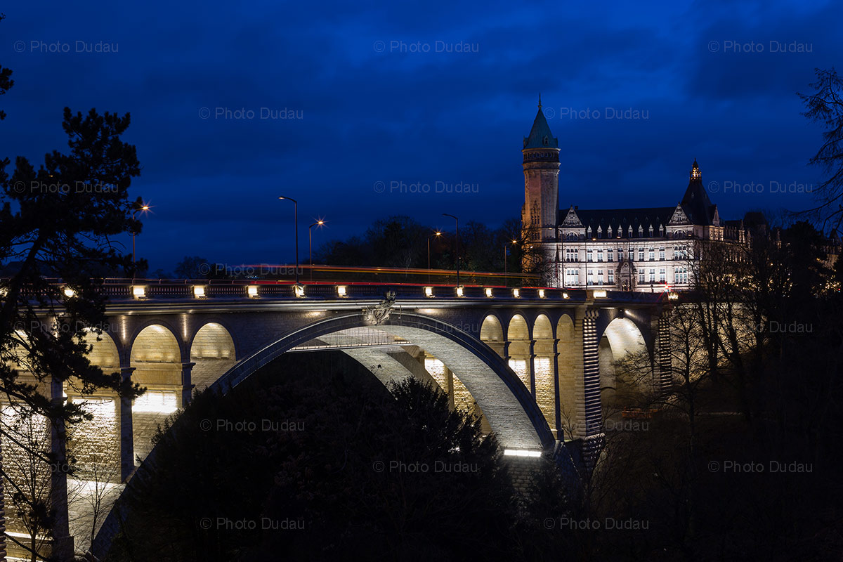 luxembourg landmarks night view