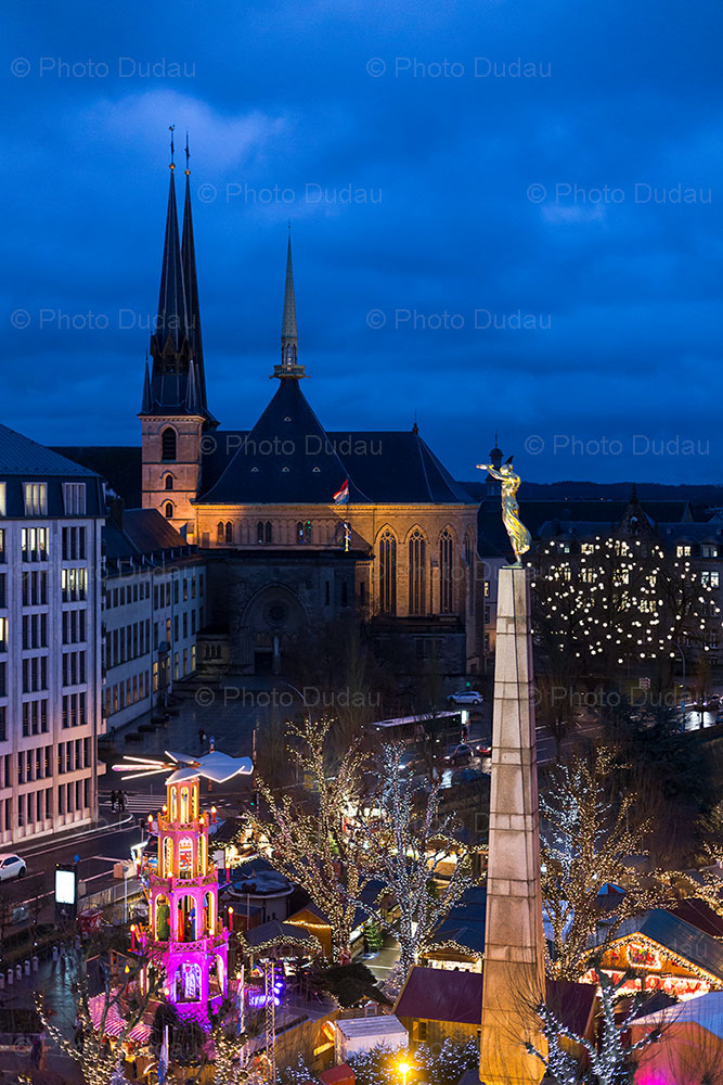 luxembourg christmas market from above