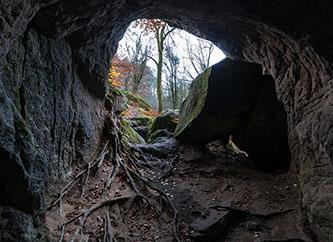Rock formation in Berdorf