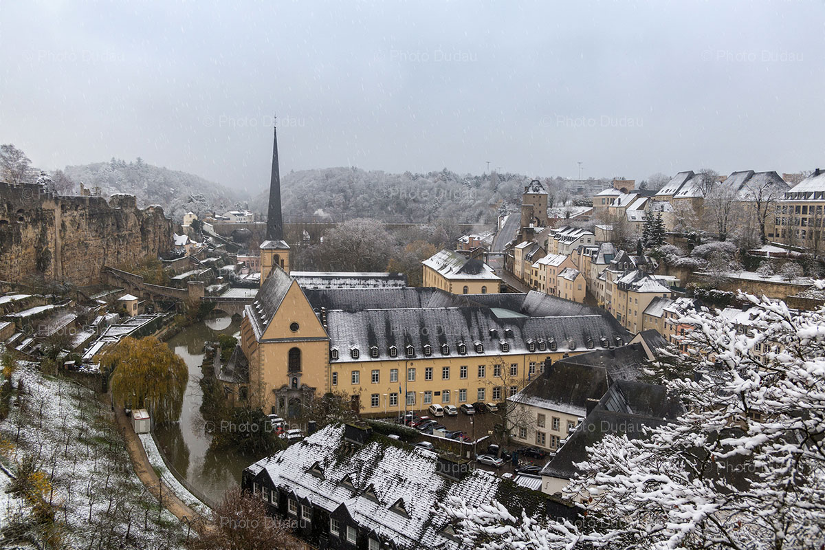 snowing in Luxembourg