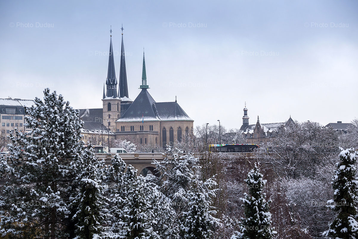 luxembourg petrusse valley under snow