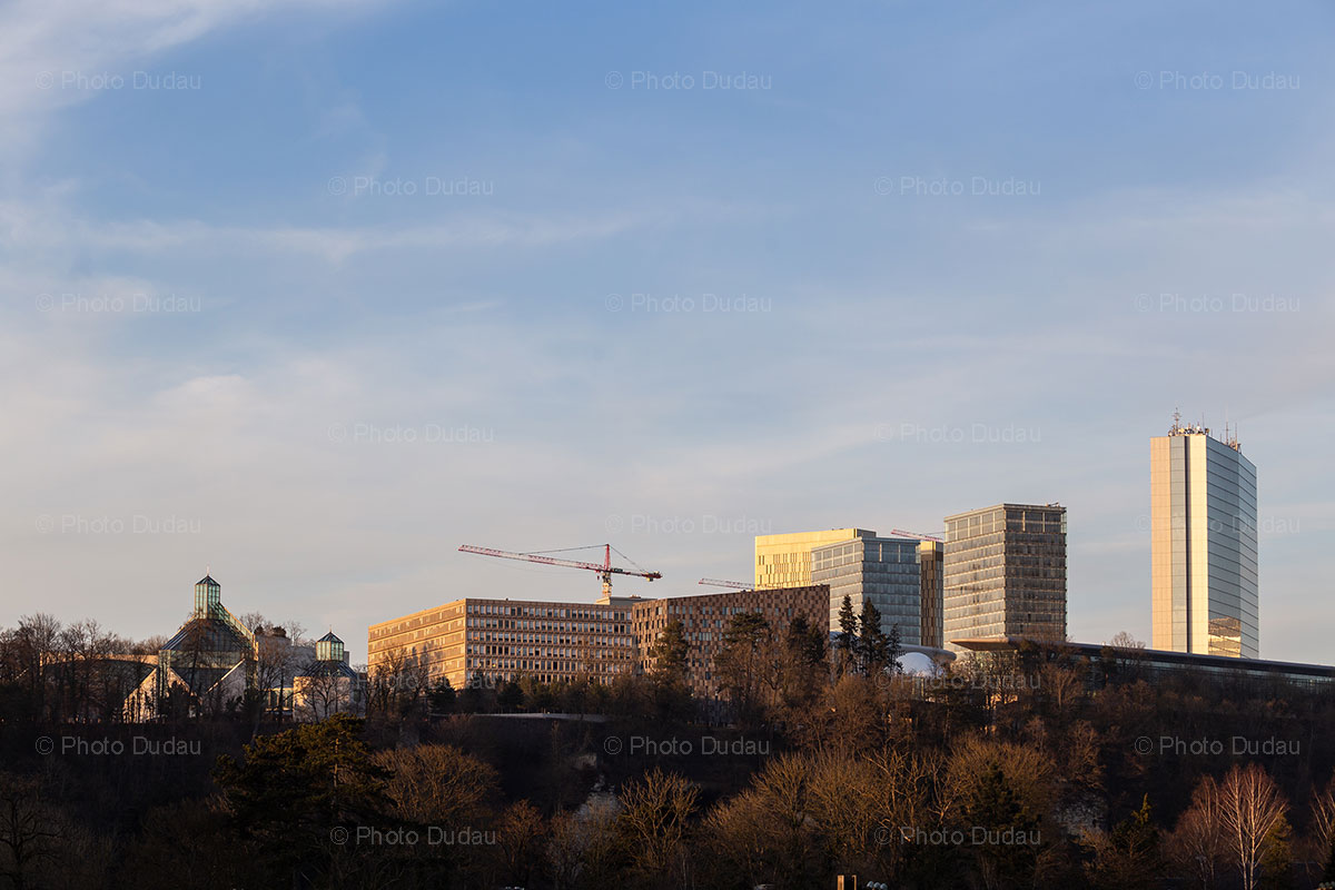 Cranes in Luxembourg city