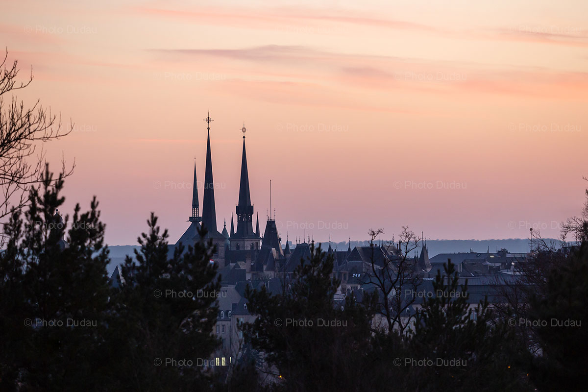 sunset in Luxembourg