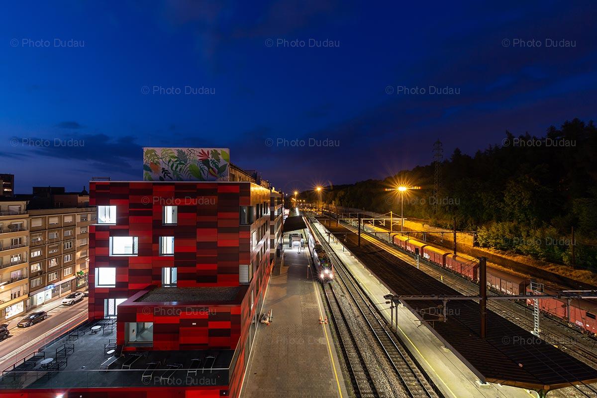 Esch-sur-Alzette train station at night