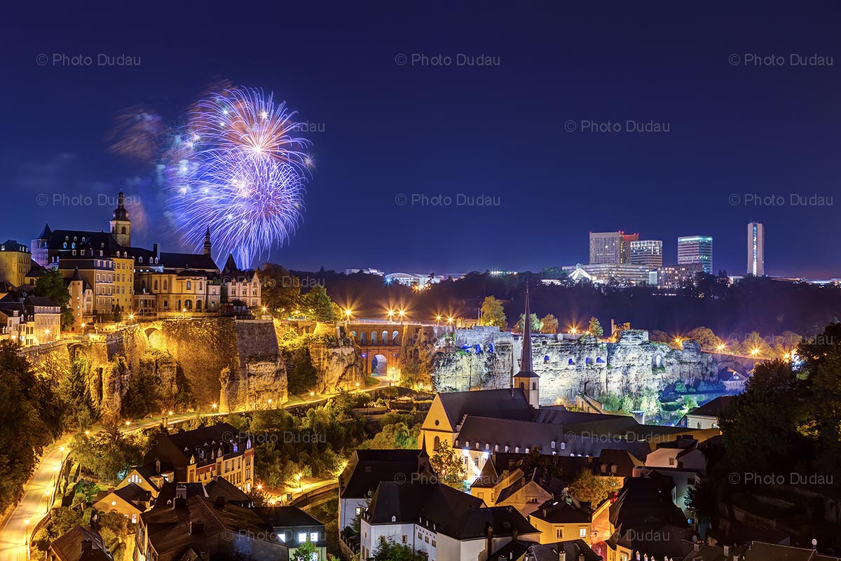 Fireworks over Luxembourg City