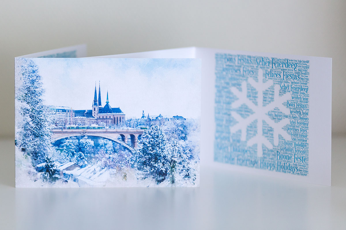 Luxembourg Greeting Card Happy Holidays