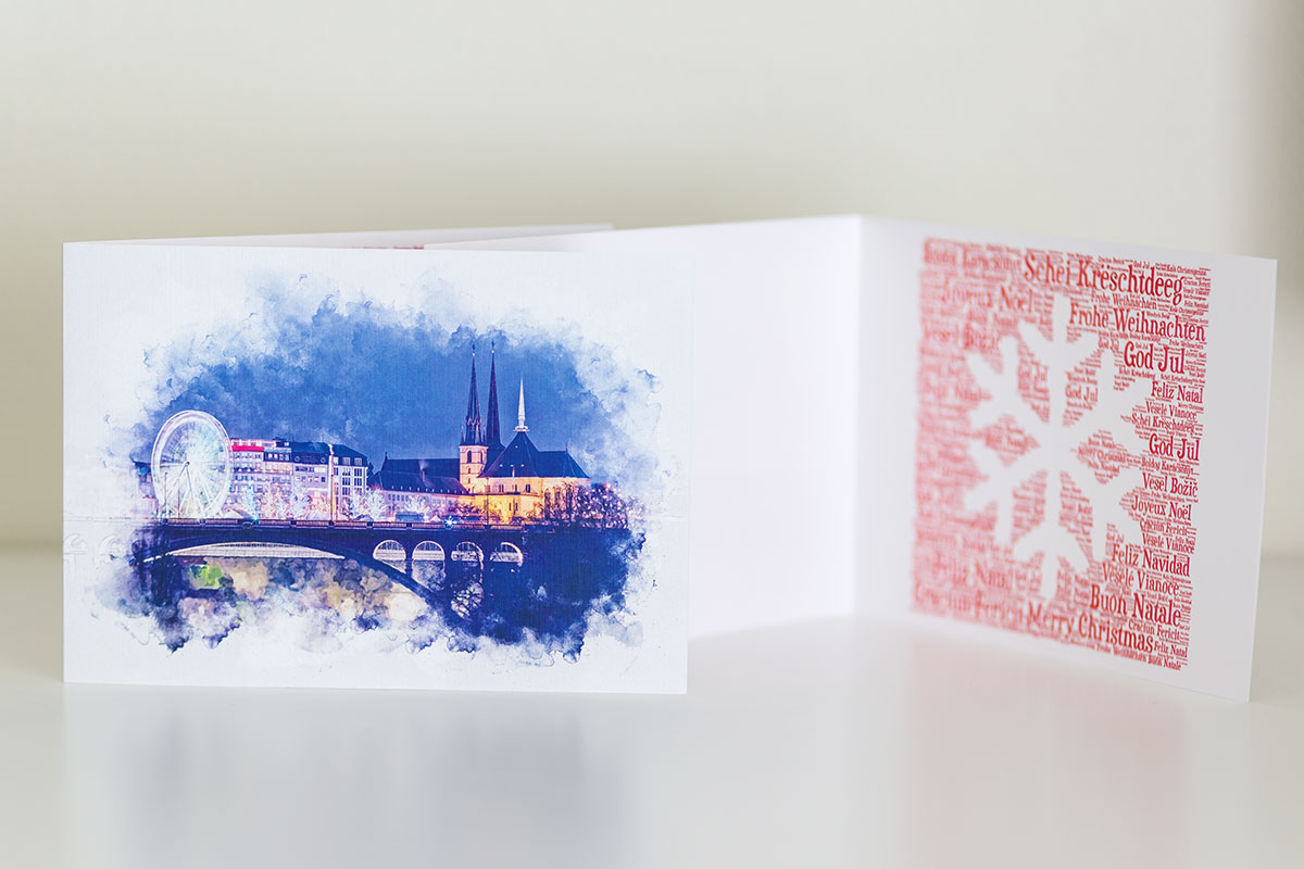 Luxembourg Christmas Greeting Card