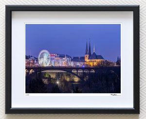 luxembourg christmas market art print