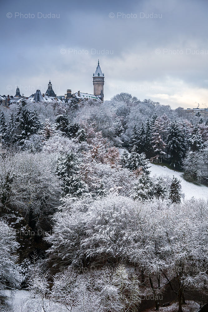 Snow over Petrusse Valley Luxembourg