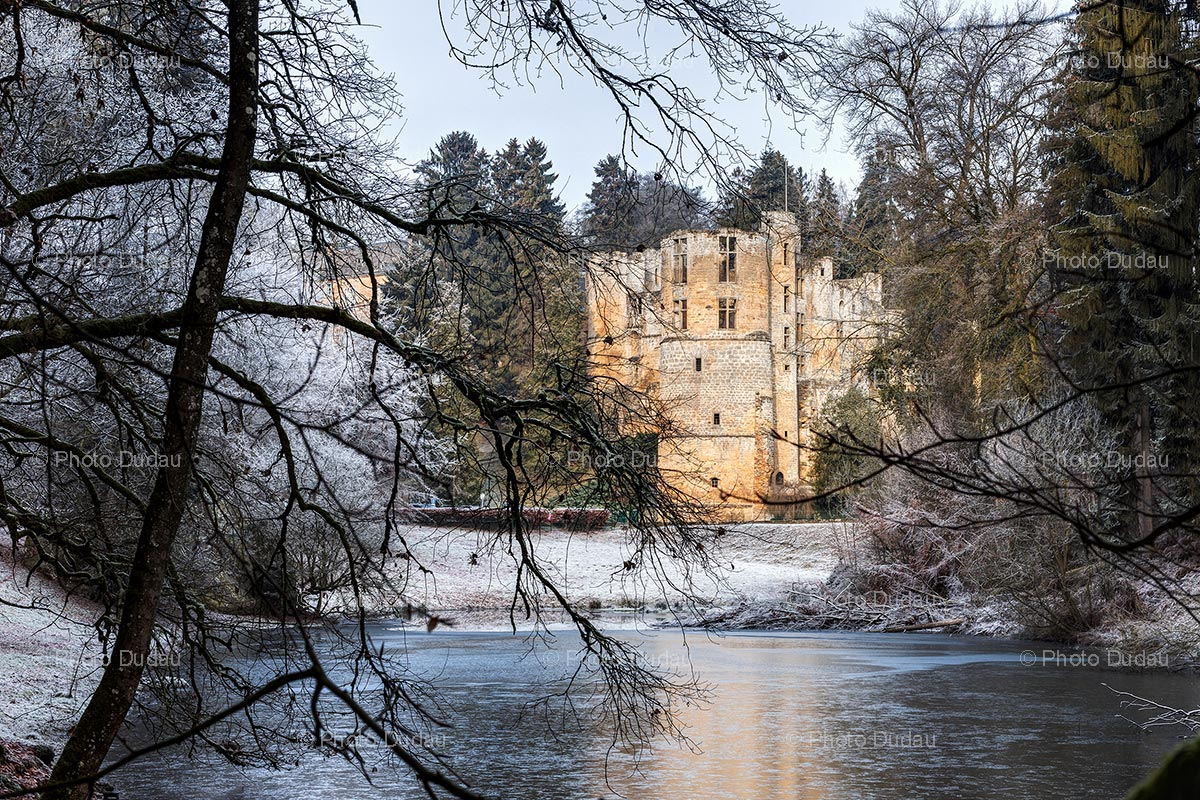 Beaufort Castle in winter