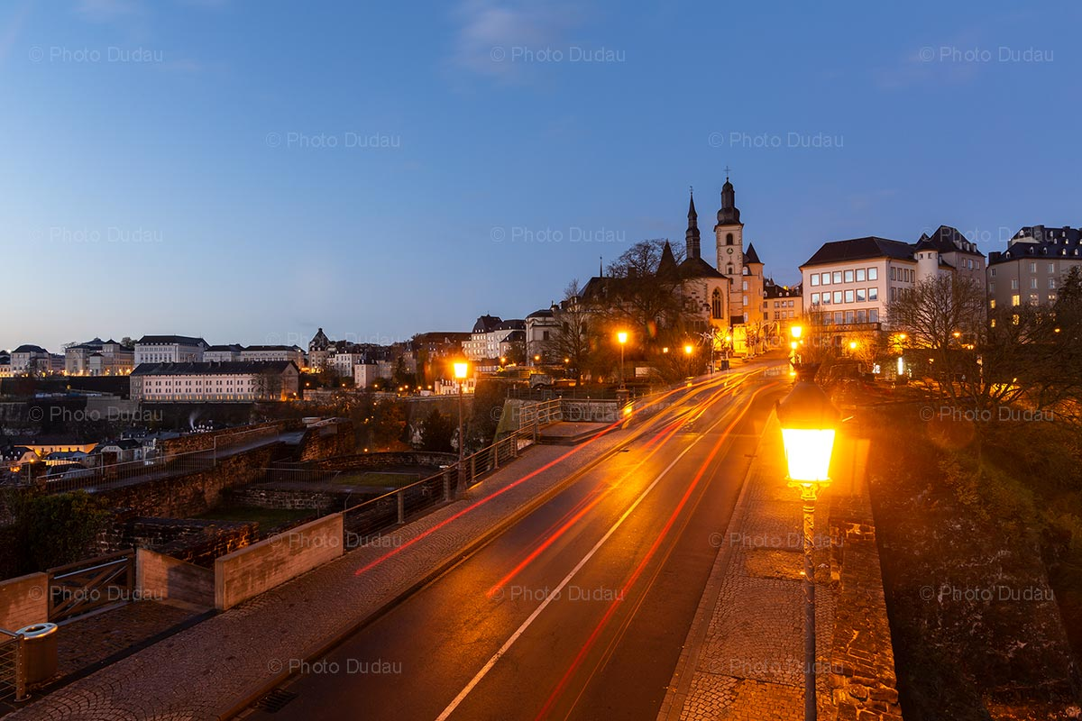 Evening in Luxembourg city