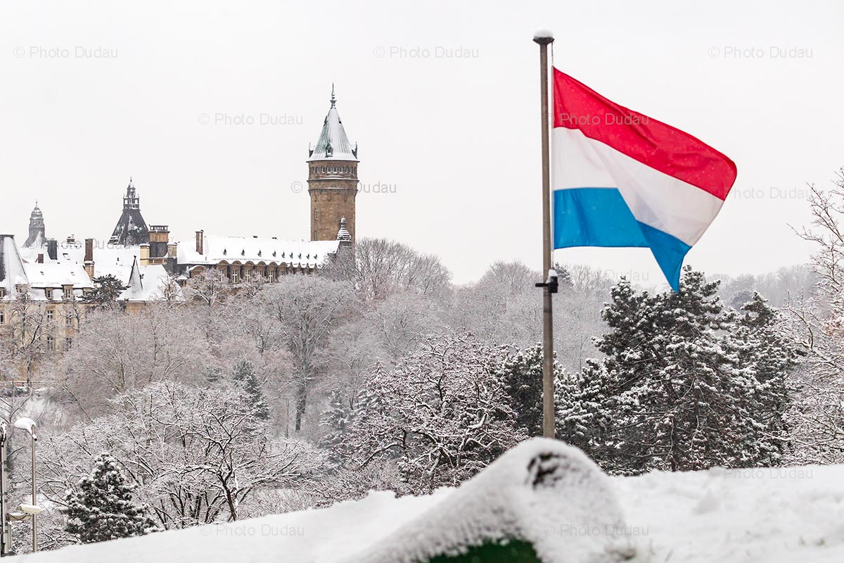 Luxembourg snow