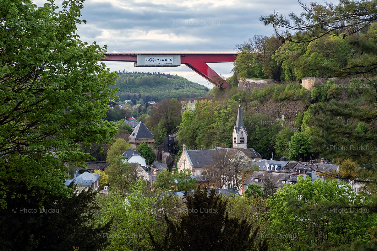 Red Bridge seen from Pfaffenthal