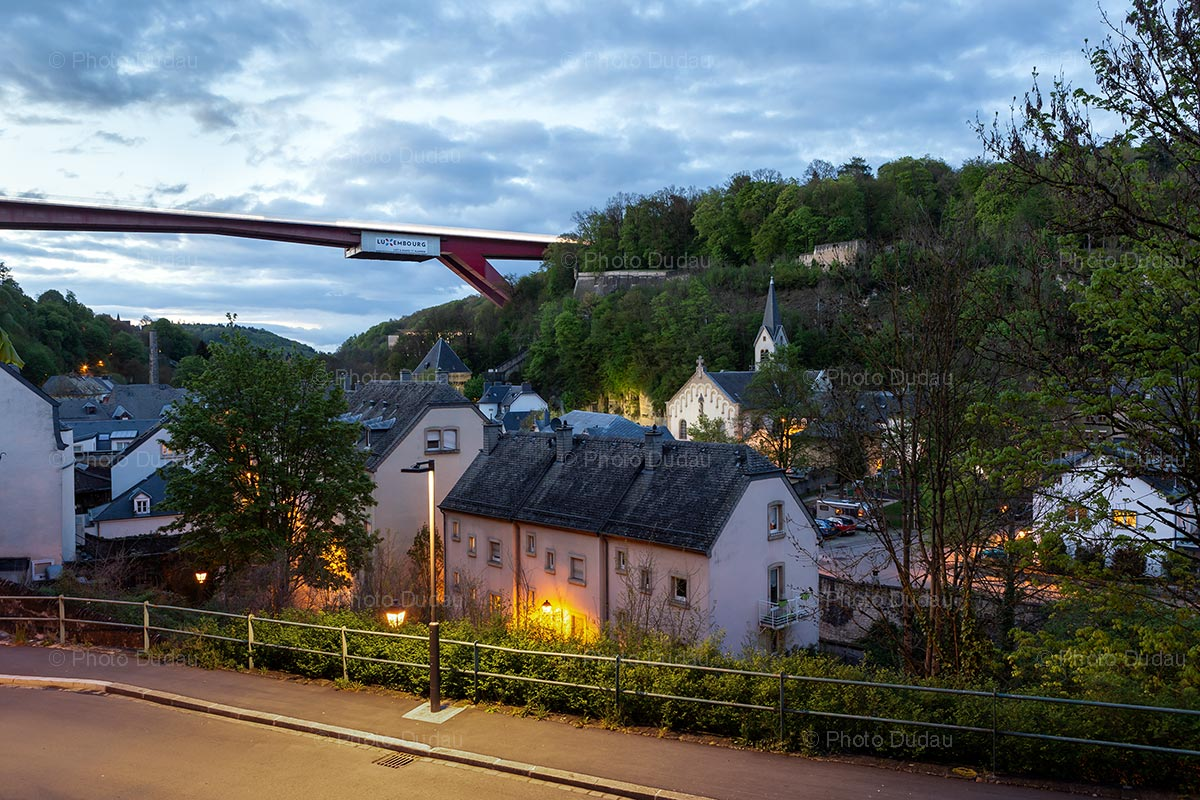 Red Bridge seen from Pfaffenthal