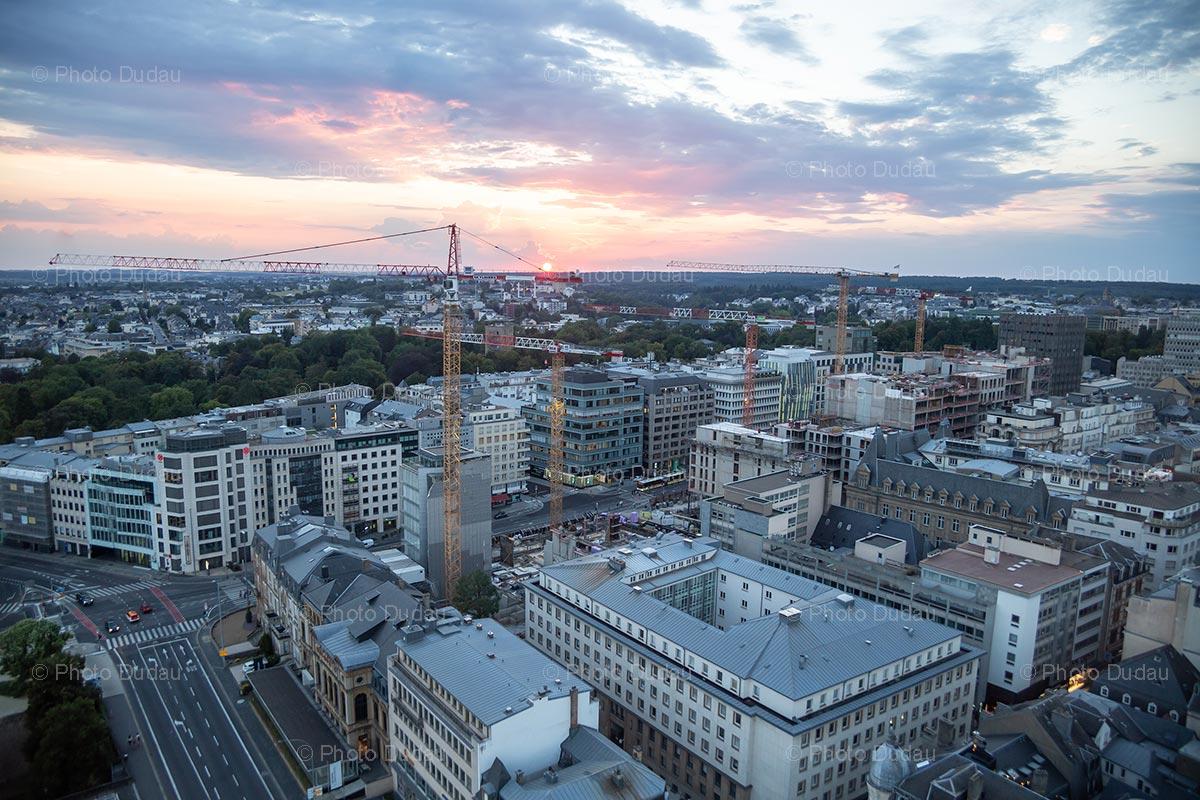 Hamilius construction site aerial view