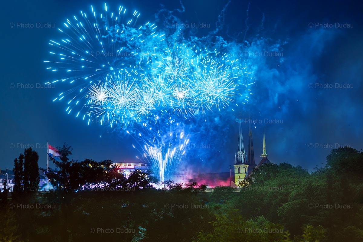 Fireworks Luxembourg city
