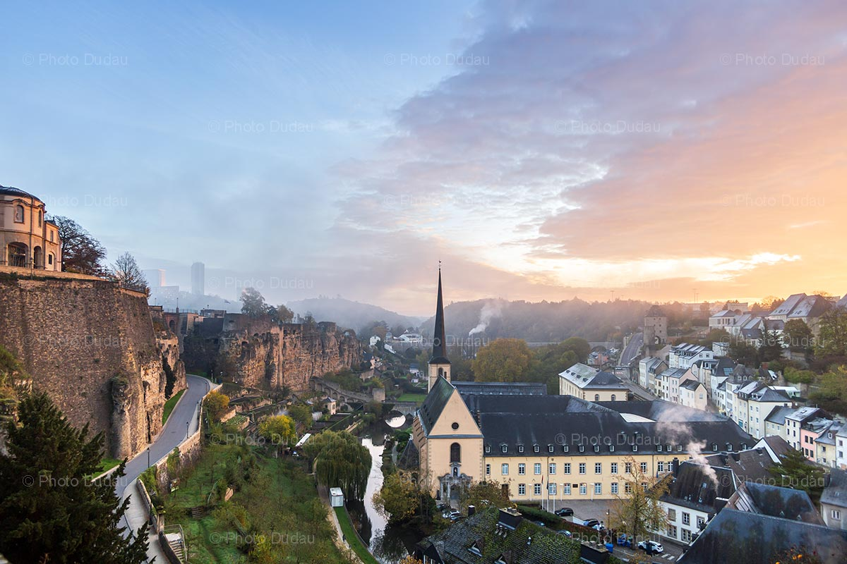 Luxembourg City Grund cityscape
