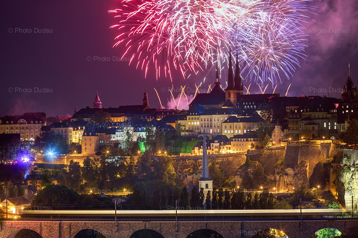 Luxembourg National Day fireworks