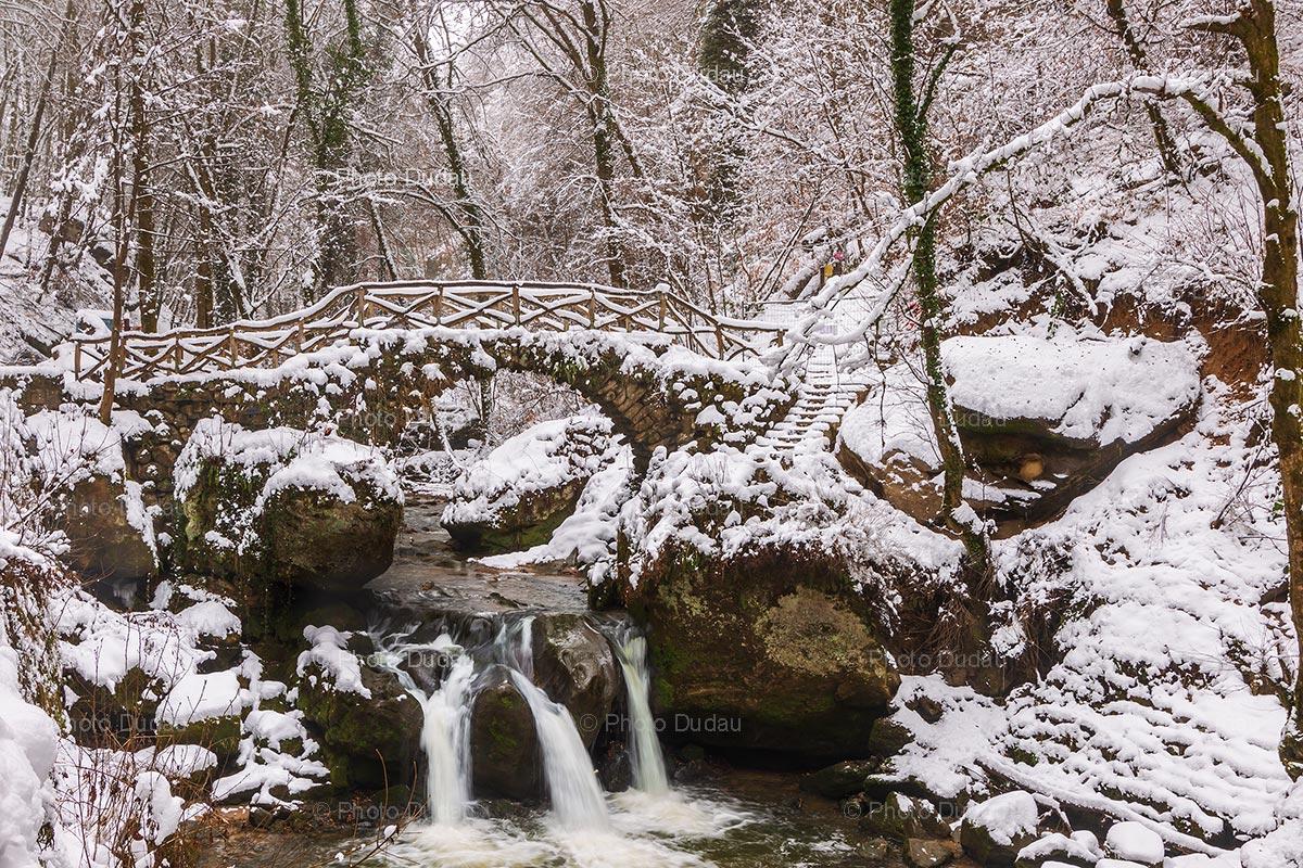 Mullerthal Cascade Schiessentümpel in winter